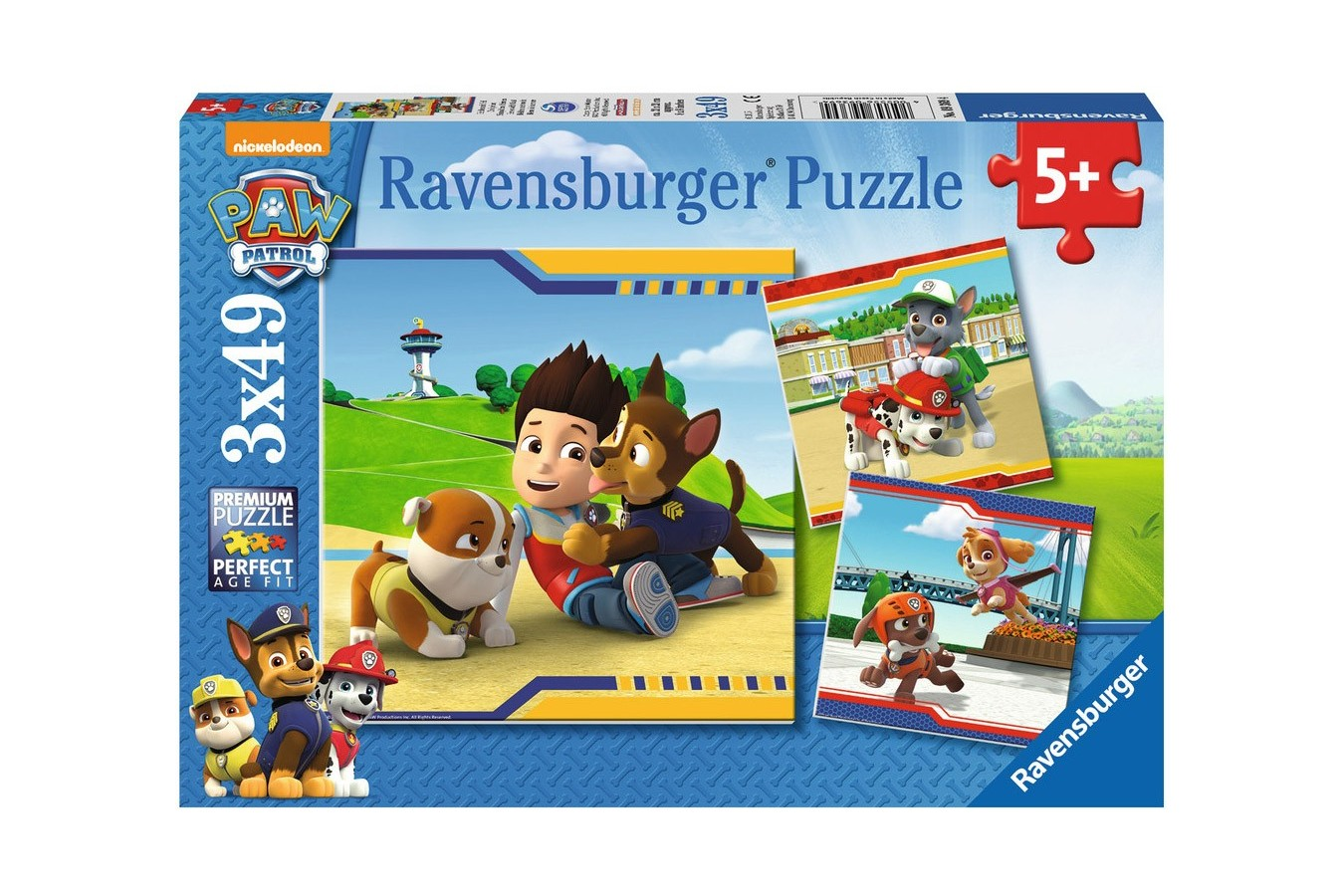 Puzzle Ravensburger - Patrula Catelusilor, 3x49 piese (09369)