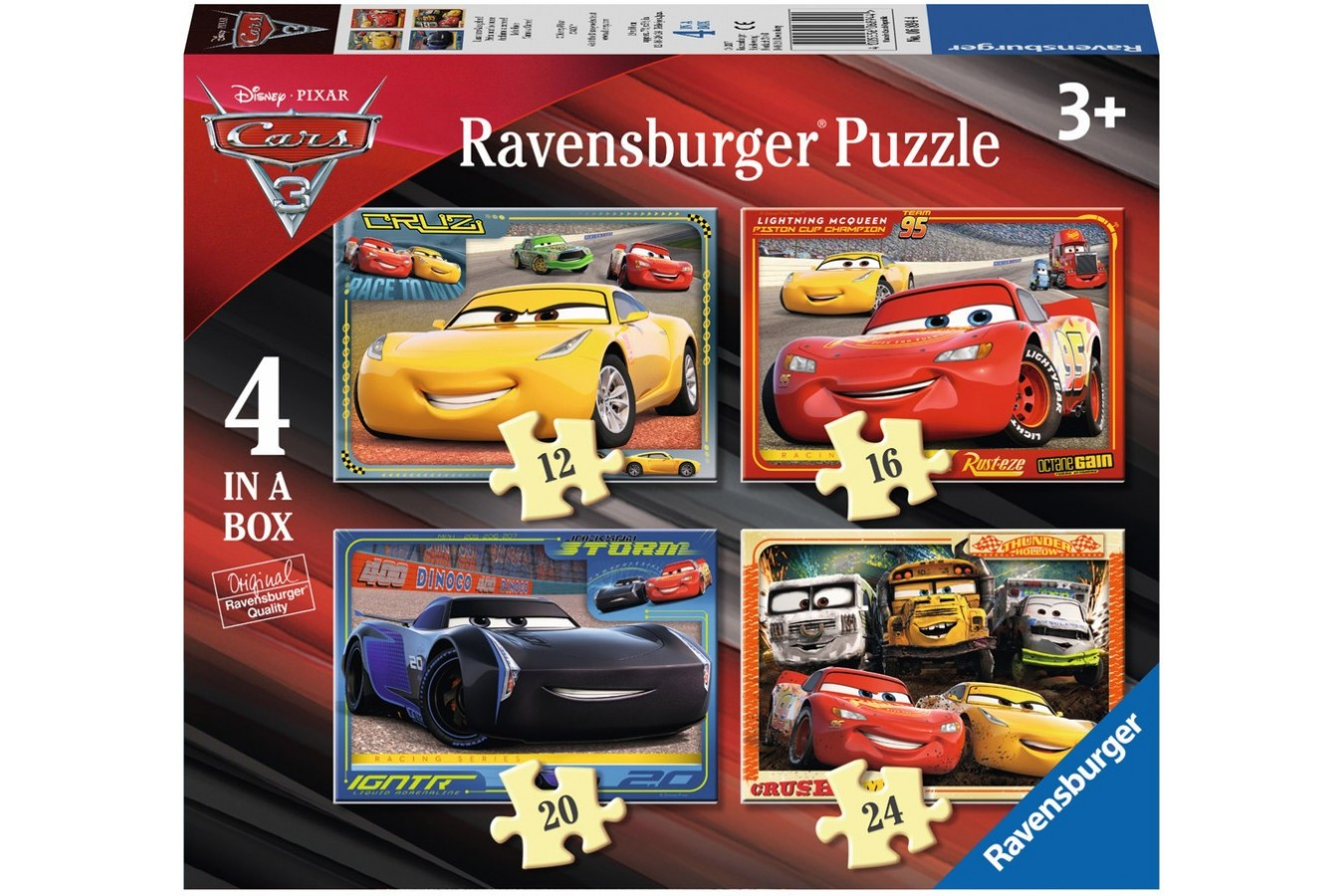 Puzzle Ravensburger - Cars, 12/16/20/24 piese (06894)