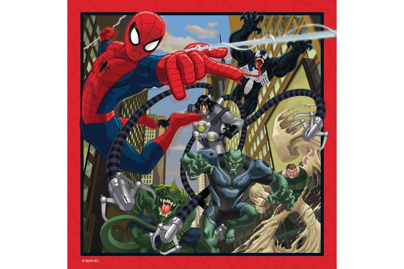 Puzzle Ravensburger - Spiderman, 2x64, 2x81 piese (07262)