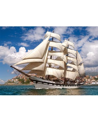 Puzzle Castorland - Tall ship leaving harbour, 500 piese