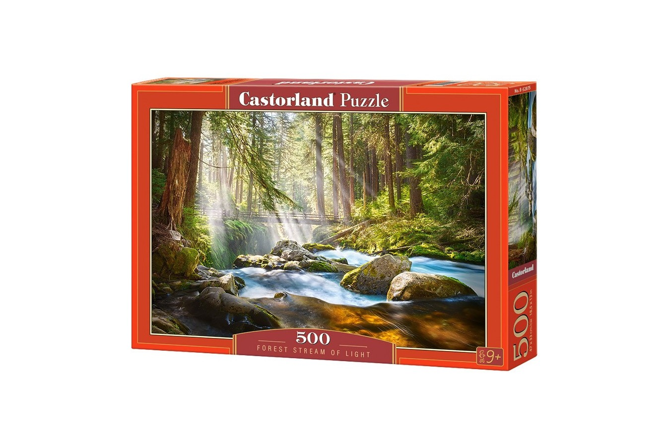 Puzzle Castorland - Forest stream of light, 500 piese