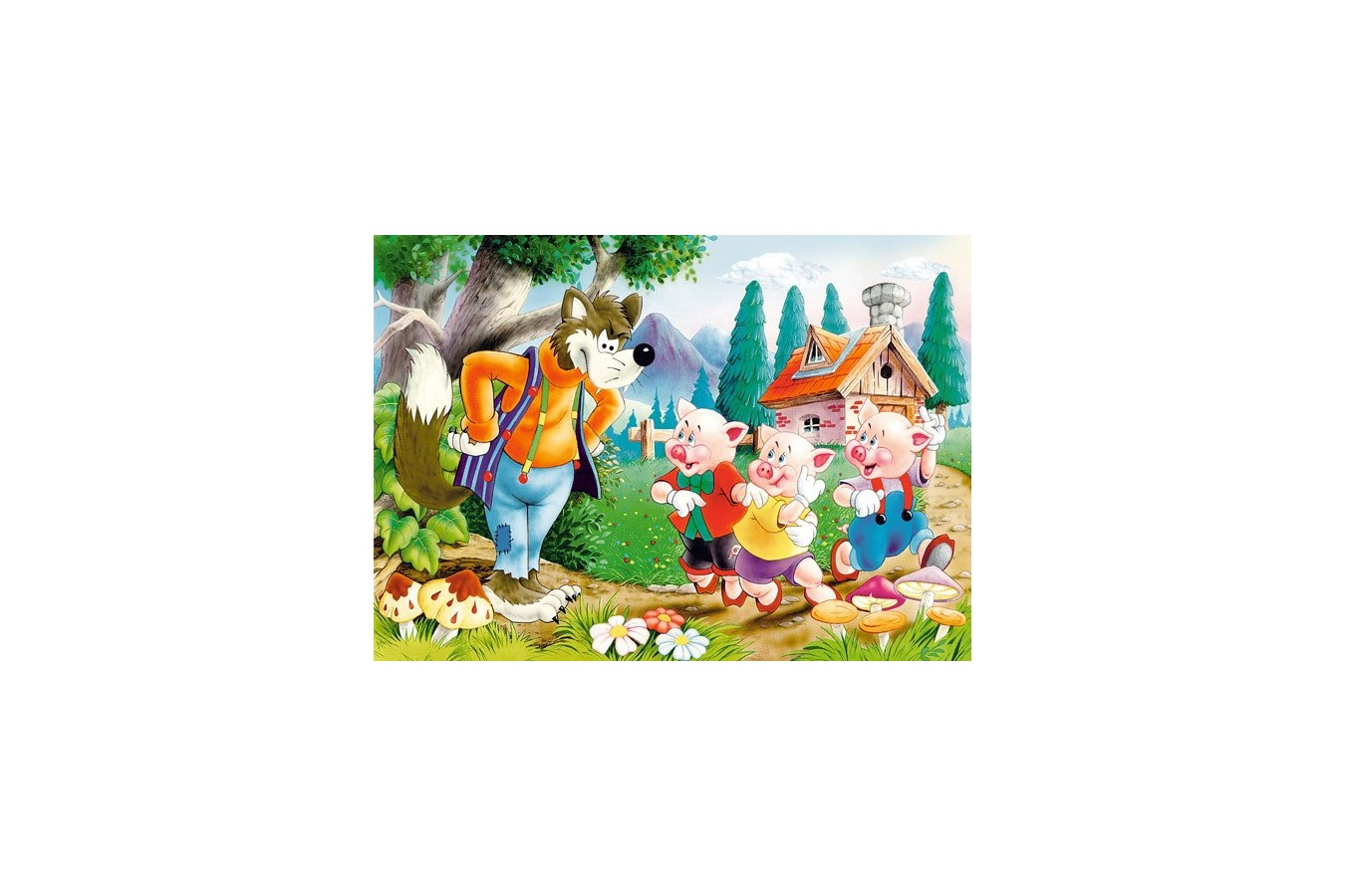 Puzzle Castorland - Three Little Pigs, 60 piese