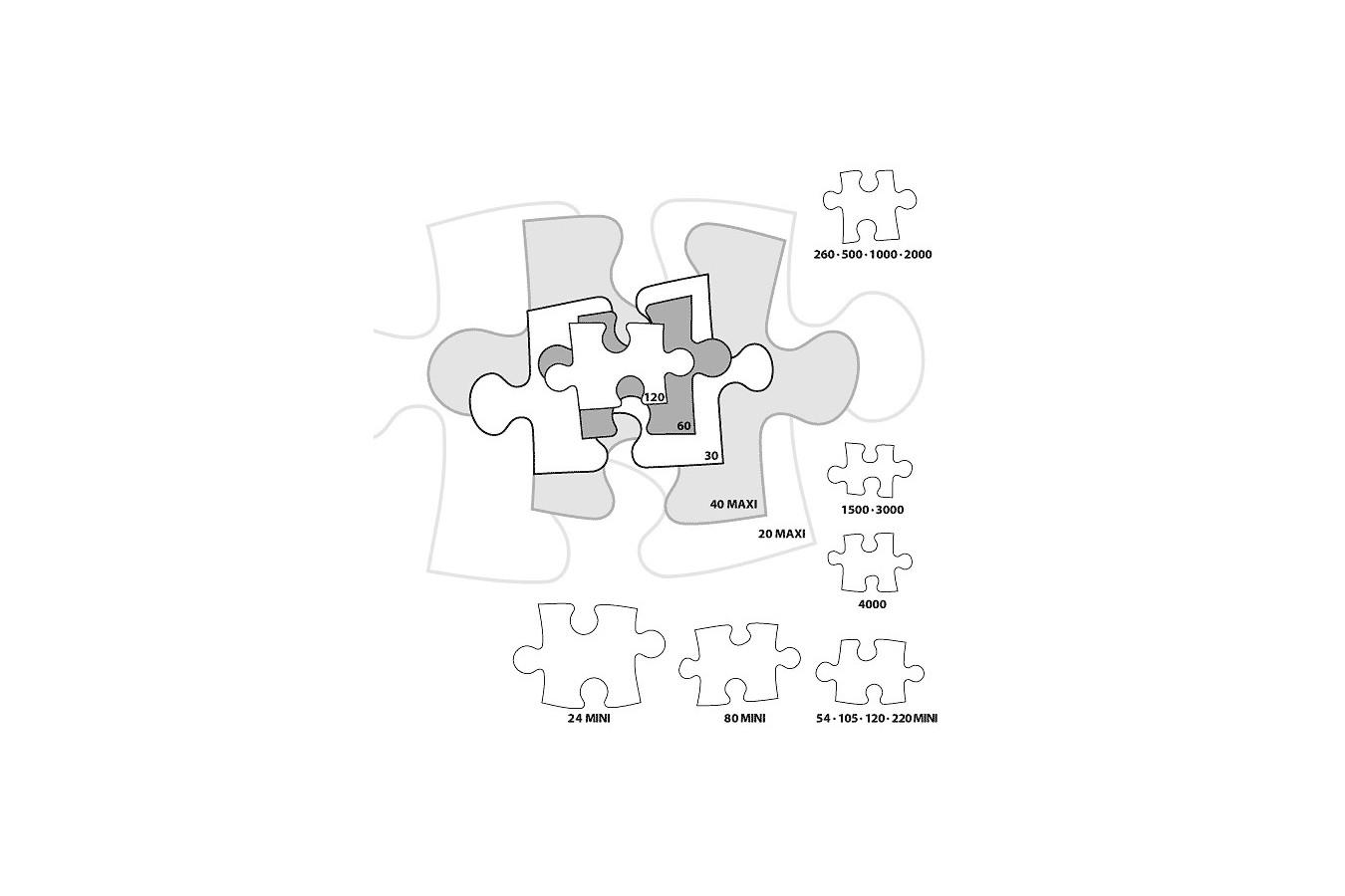 Puzzle 4 in 1 Castorland - African Animals, 3/4/6/9 piese