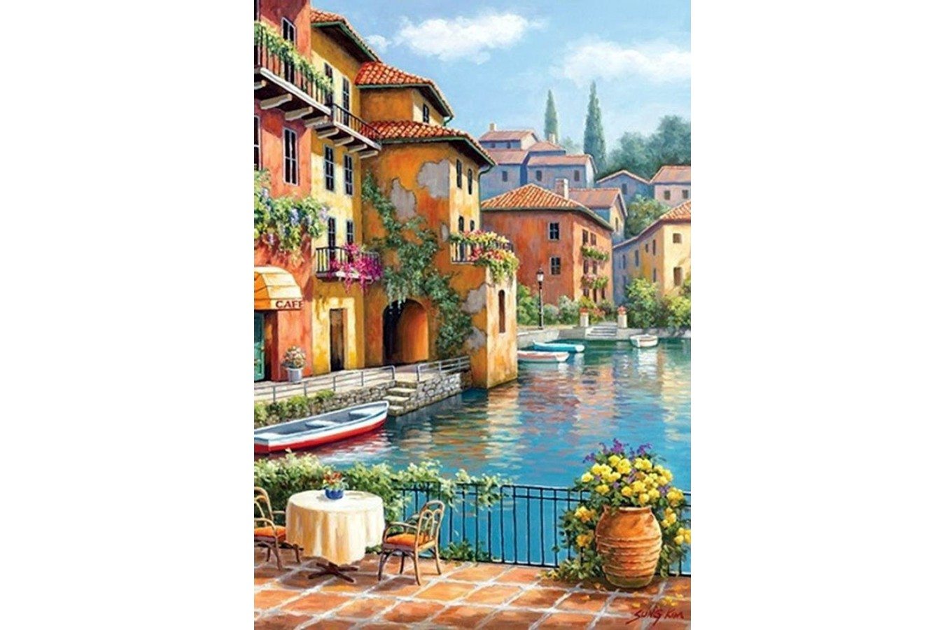 Puzzle Anatolian - Cafe at the Canal, 260 piese (3294)