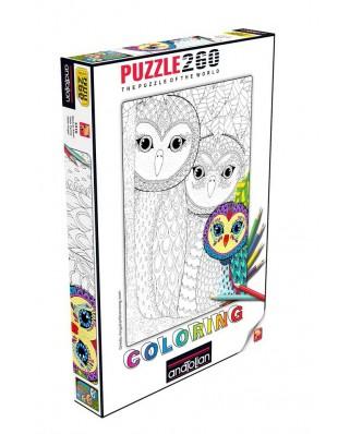 Puzzle de colorat Anatolian - Owls Family, 260 piese (3316)