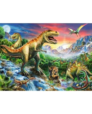Puzzle Ravensburger - Epoca Dinozaurilor, 100 piese (10665)