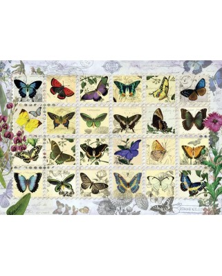 Puzzle Anatolian - Butterfly Stamps, 500 piese (3583)