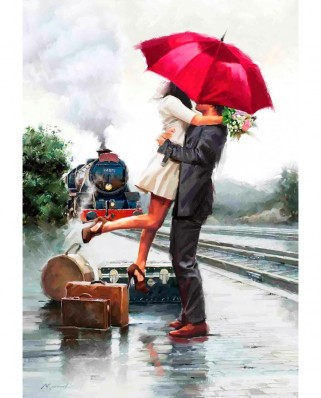 Puzzle Anatolian - Couple On Train Station, 500 piese (3589)