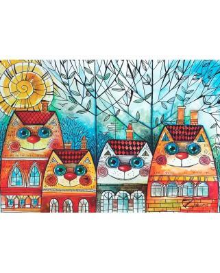 Puzzle Anatolian - City Cat, 500 piese (3590)