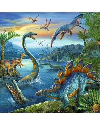 Puzzle Ravensburger - Farmecul Dinozaurilor, 3x49 piese (09317)