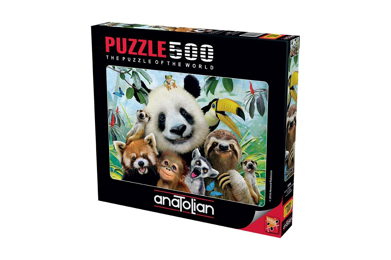 Puzzle Anatolian - Zoo Selfie, 500 piese (3596)