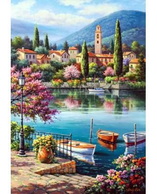 Puzzle Anatolian - Village Lake Afternoon, 500 piese (3597)