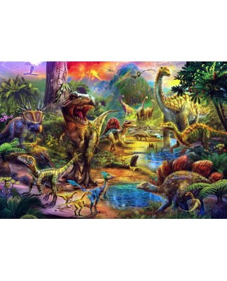 Puzzle Anatolian - Landscape Of Dinosaurs, 500 piese (3603)