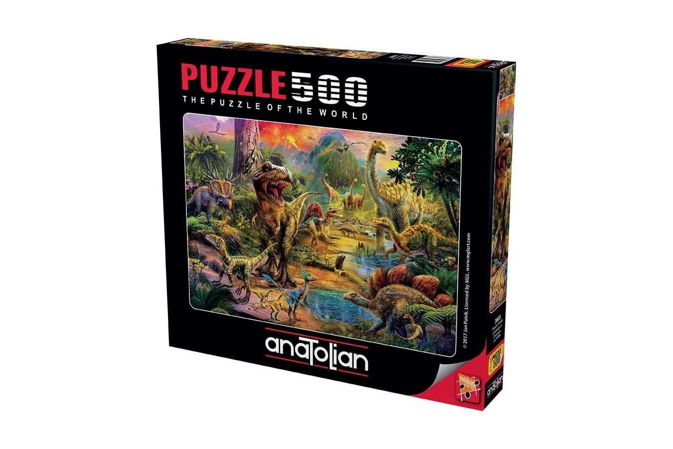 Puzzle Anatolian - Landscape Of Dinosaurs, 500 piese (3603)