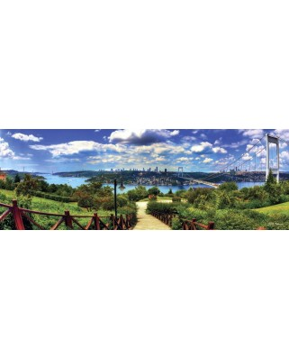 Puzzle Anatolian - Bosphorus From Otagtepe, 1000 piese, panoramic (1028)