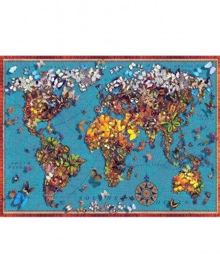Puzzle Anatolian - Butterfly World Map, 1000 piese (1029)