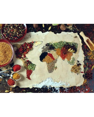 Puzzle Anatolian - Herbal World Map, 1000 piese (1045)