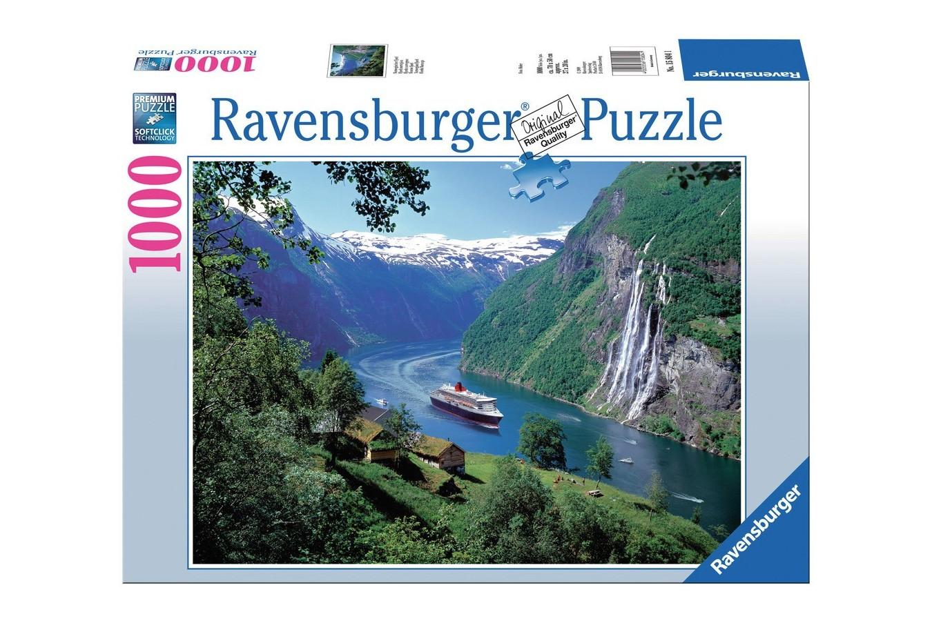Puzzle Ravensburger - Fiord Norvegian, 1.000 piese (15804)