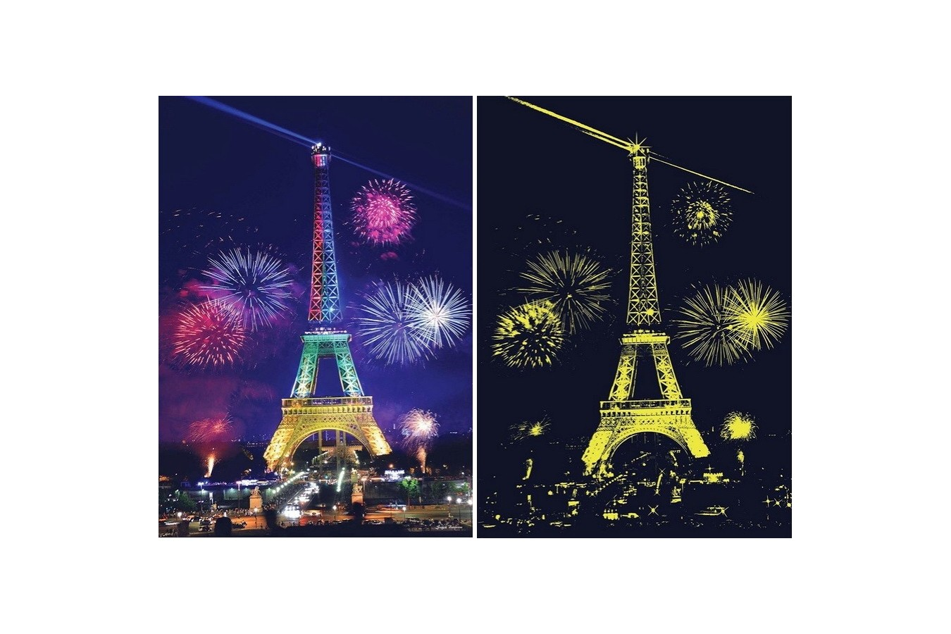 Puzzle Anatolian - Eiffel Tower, 1000 piese, fosforescent (1902)