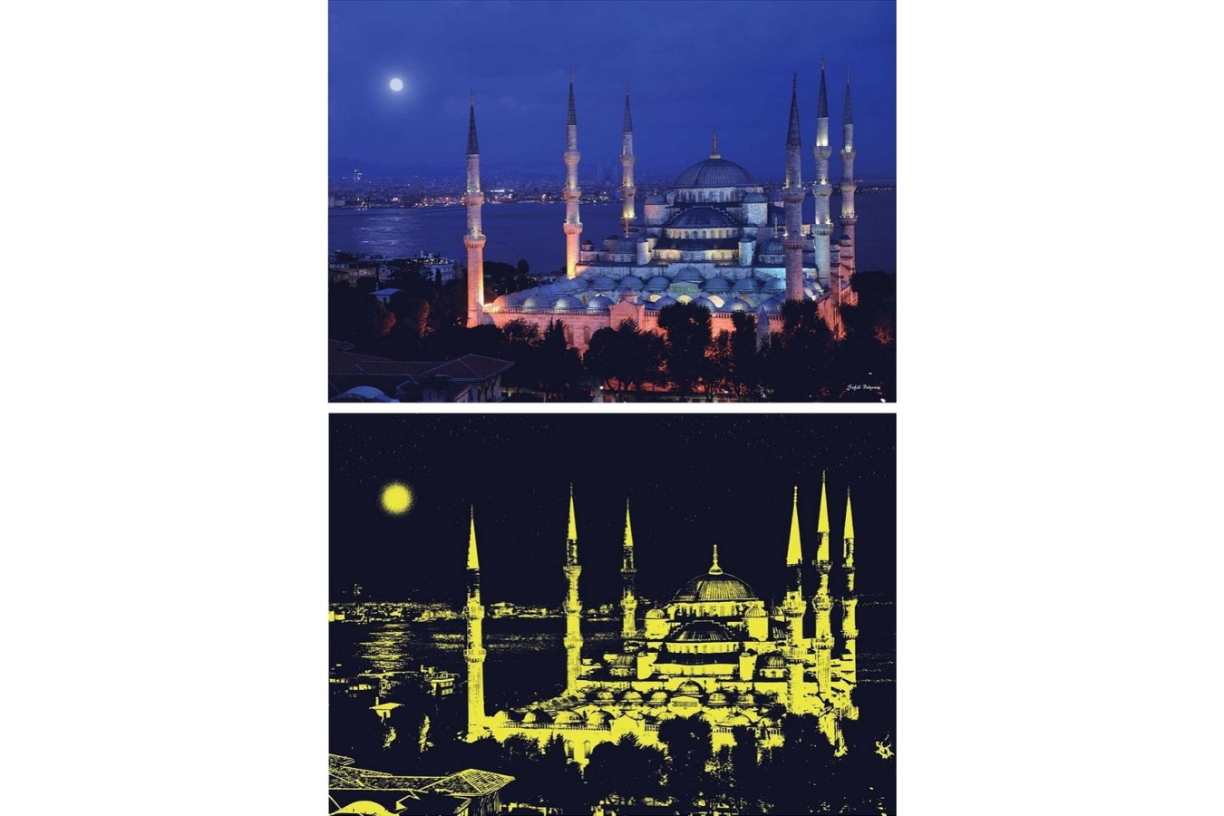 Puzzle Anatolian - Sultanahmet Mosque, 1000 piese, fosforescent (1905)