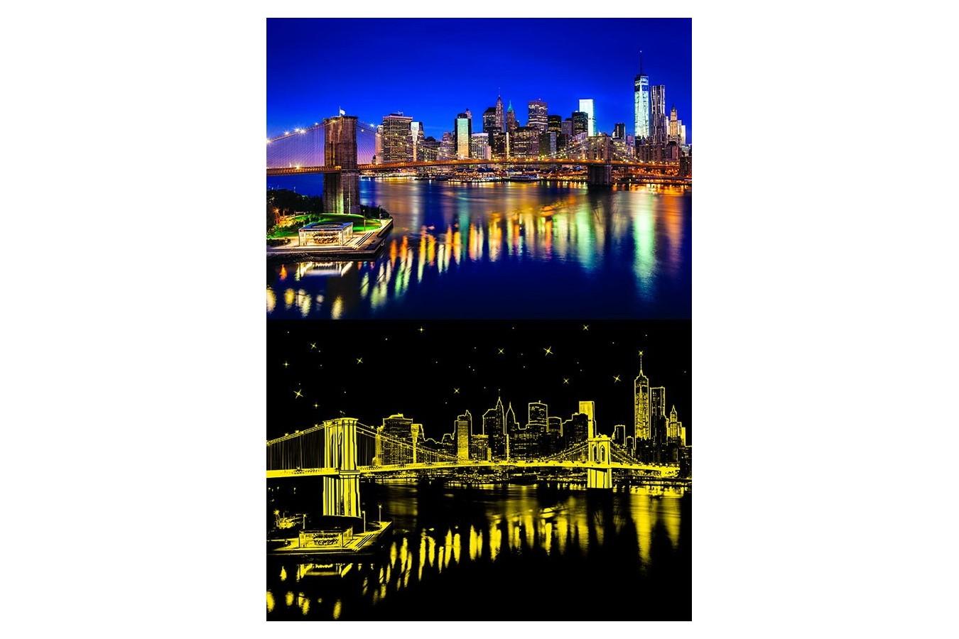 Puzzle Anatolian - The Brooklyn Bridge, 1000 piese, fosforescent (1906)