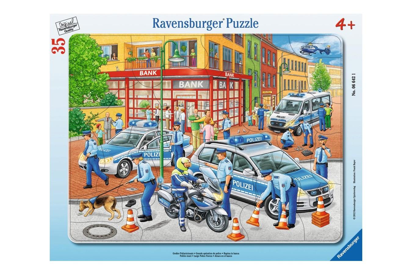 Puzzle Ravensburger - Fortele Politiei, 35 piese (06642)