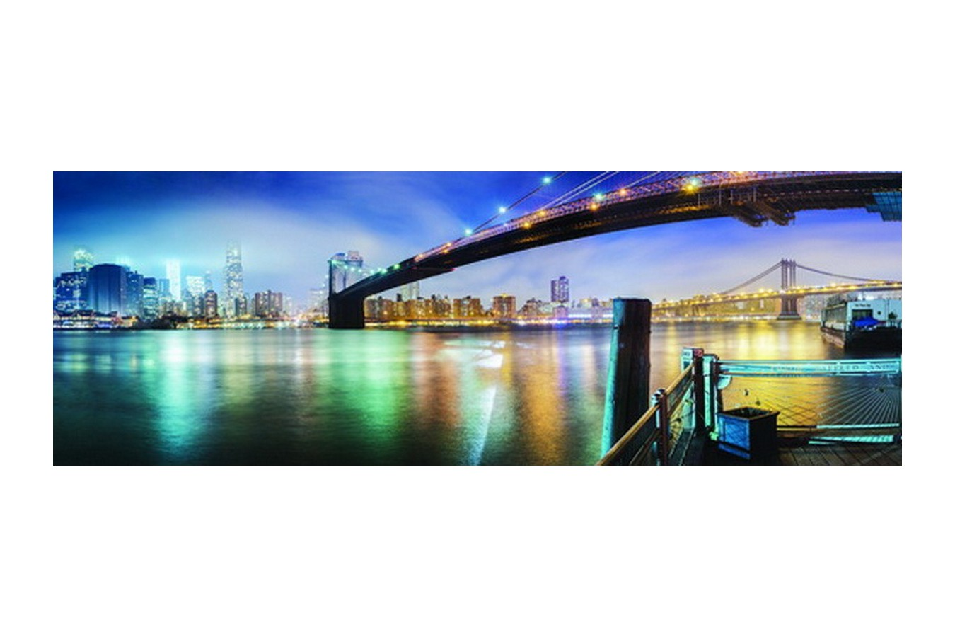 Puzzle Anatolian - The Brooklyn Bridge, 1000 piese, panoramic (3185)