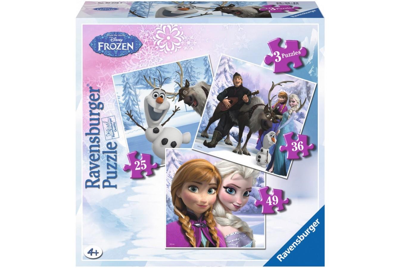 Puzzle Ravensburger - Frozen Anna, 25/36/49 piese (07276)