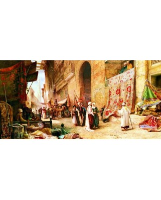 Puzzle Anatolian - A Carpet Sale In Cairo, 1500 piese, panoramic (3751)