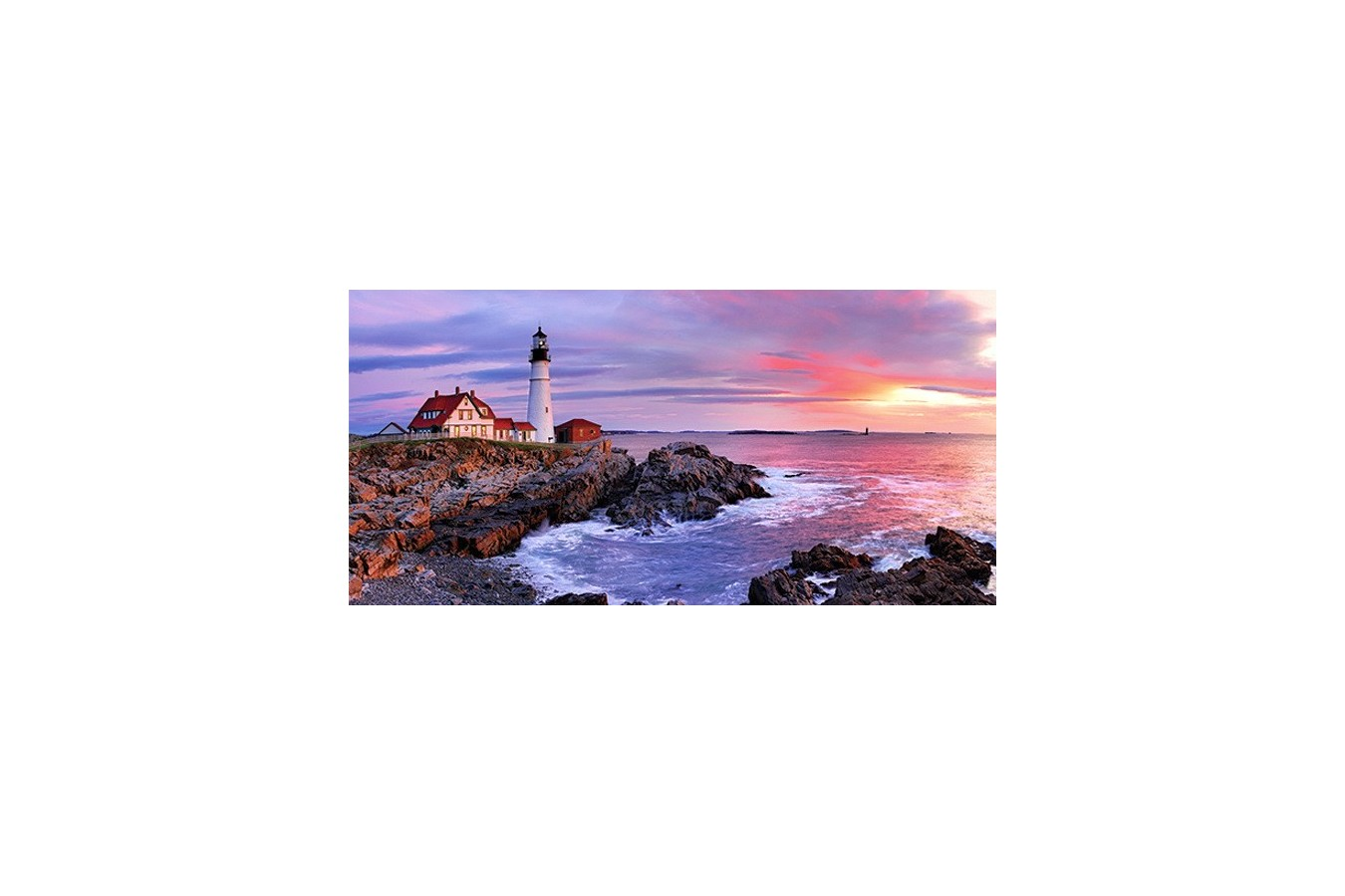 Puzzle Anatolian - Lighthouse at Portland Head, 1500 piese, panoramic (3787)