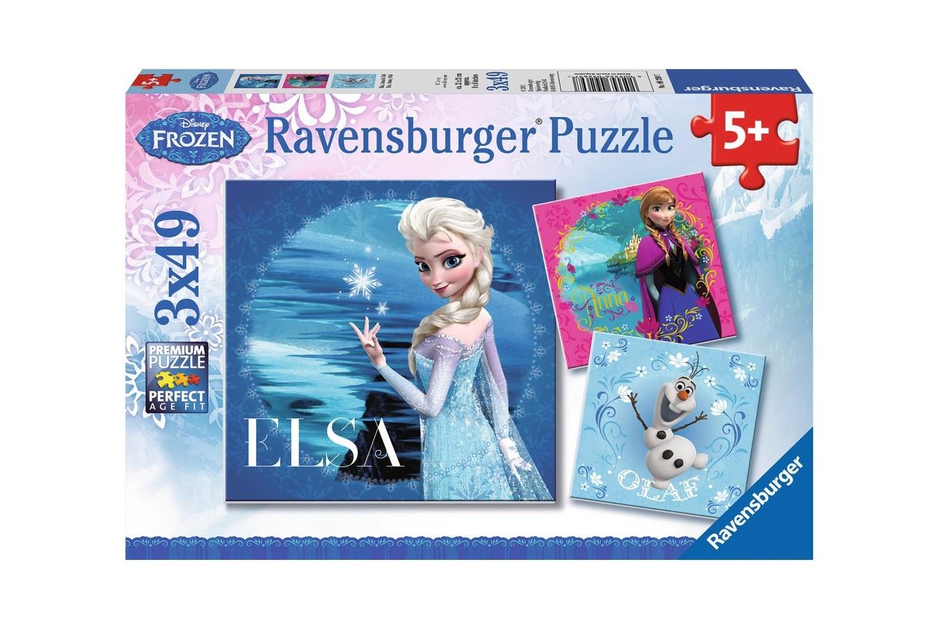 Puzzle Ravensburger - Frozen Elsa, 3x49 piese (09269)