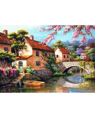 Puzzle Anatolian - Country Village Canal, 1500 piese (4543)