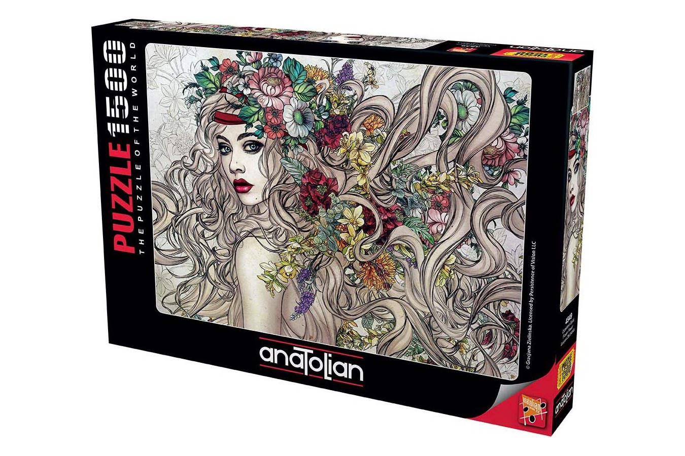 Puzzle Anatolian - Flower Power, 1500 piese (4549)