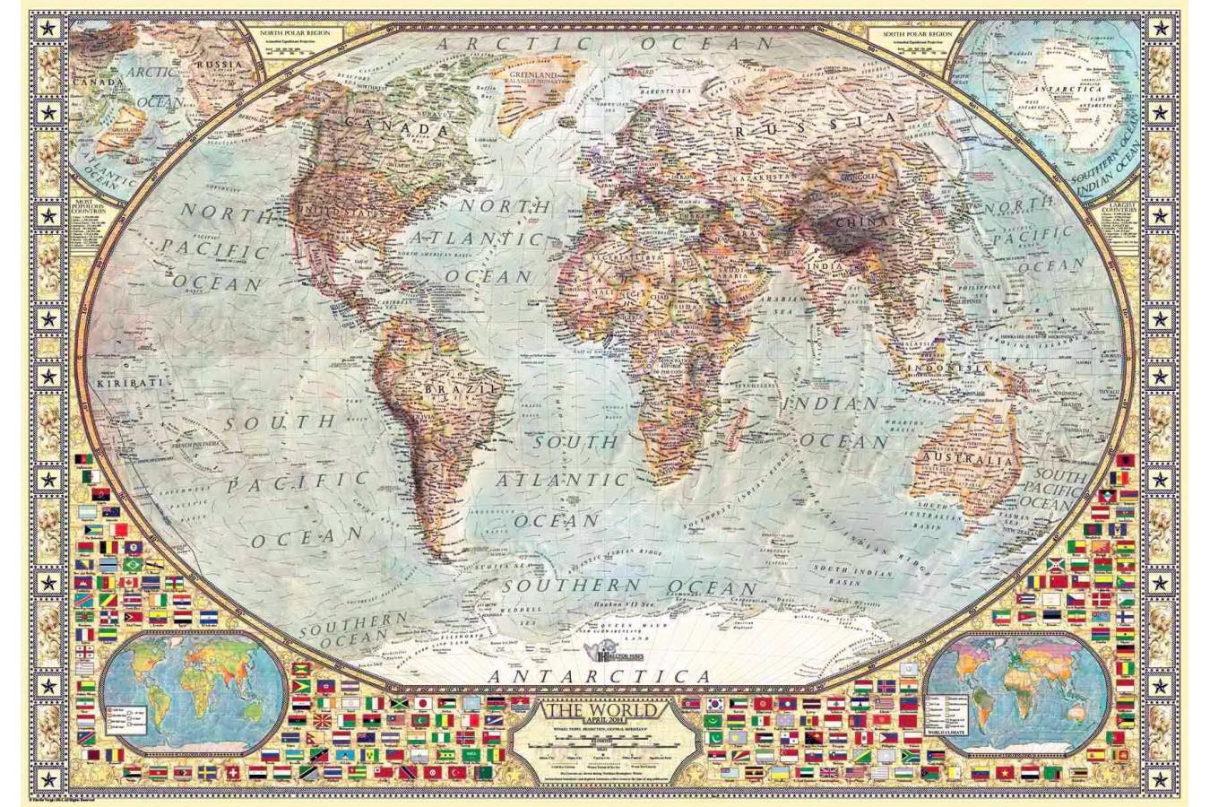 Puzzle Anatolian - World Map, 2000 piese (3935)