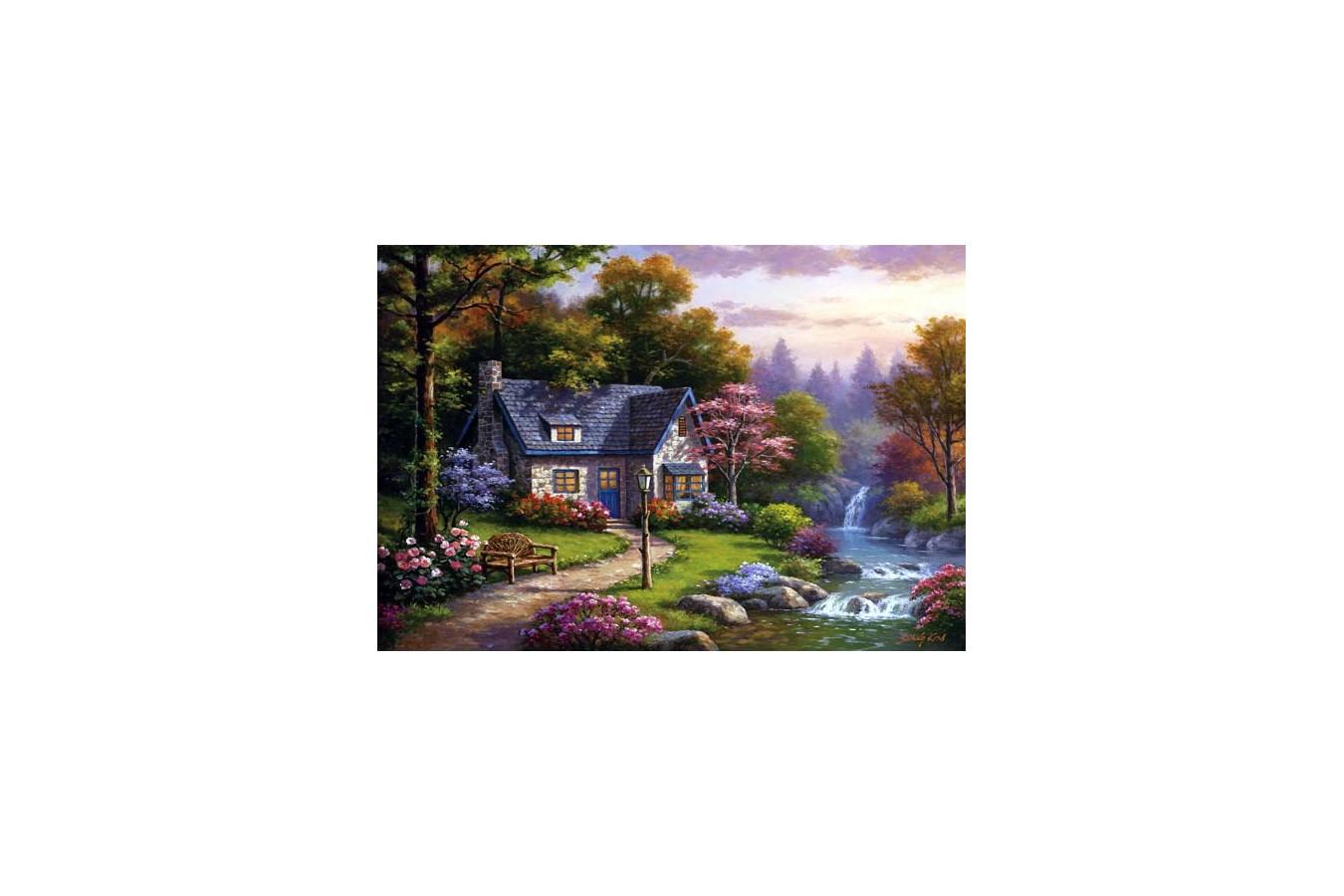 Puzzle Anatolian - Stonybrook Falls Cottage, 2000 piese (3940)
