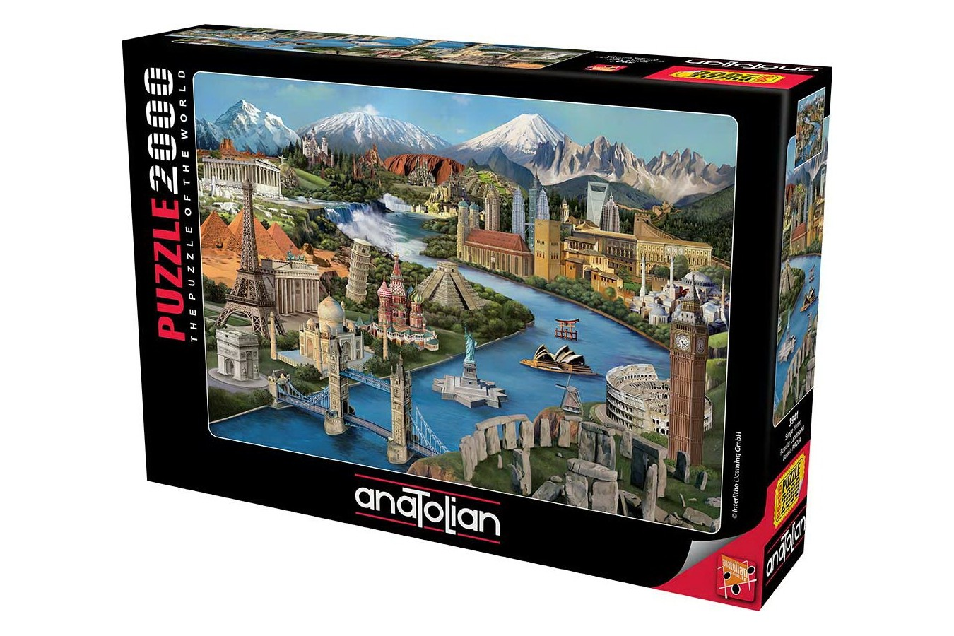 Puzzle Anatolian - Popular Landmarks, 2000 piese (3941)
