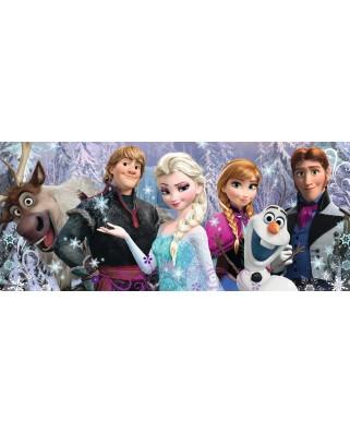 Puzzle Ravensburger - Frozen Panorama Inghetata, 200 piese (12801)