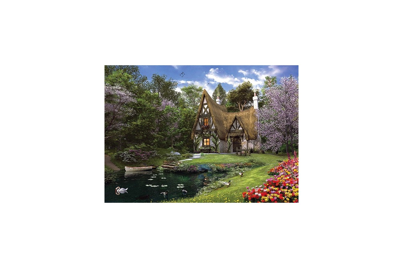 Puzzle Anatolian - Spring Lake Cottage, 3000 piese (4900)