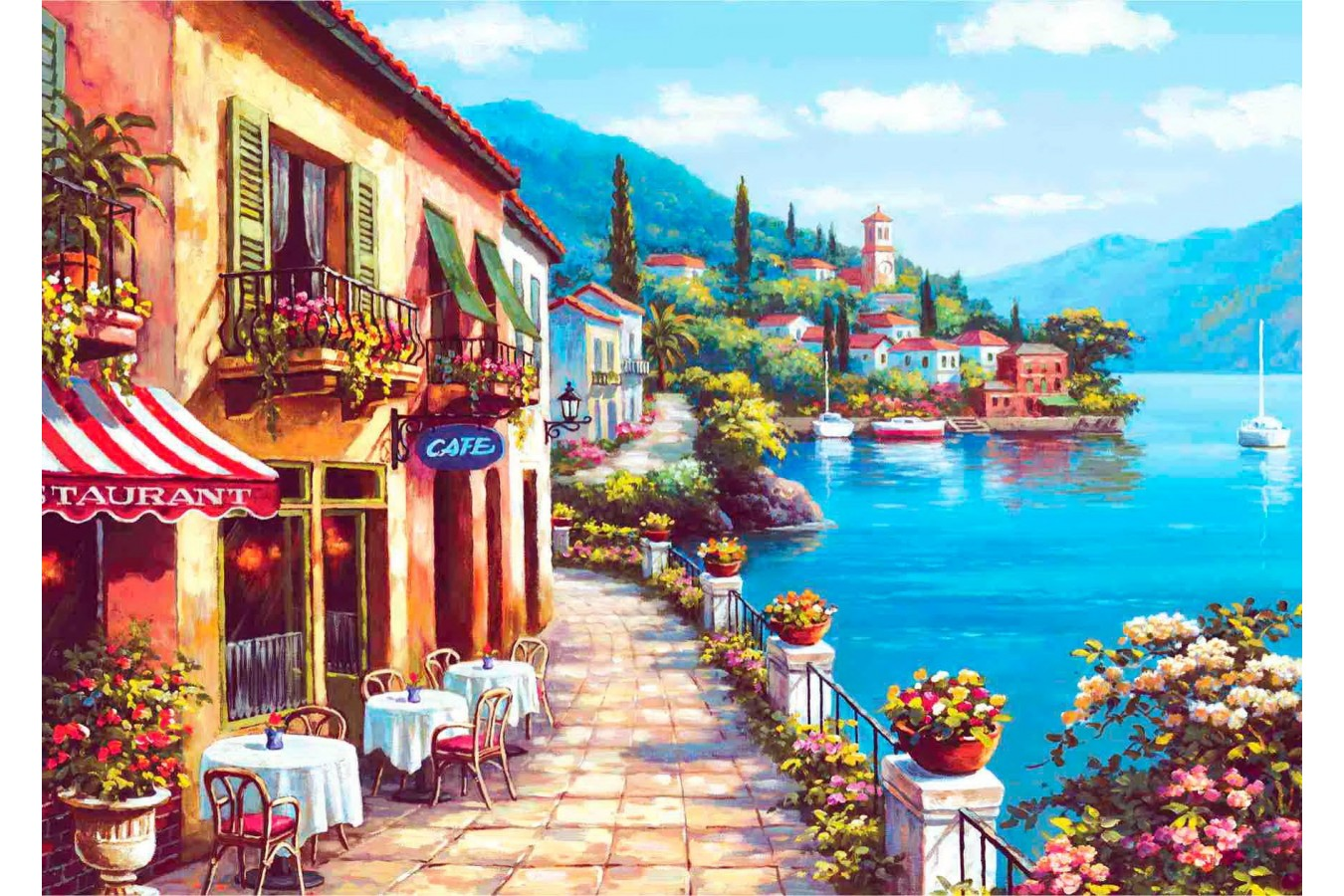 Puzzle Anatolian - Overlook Cafe I, 3000 piese (4909)
