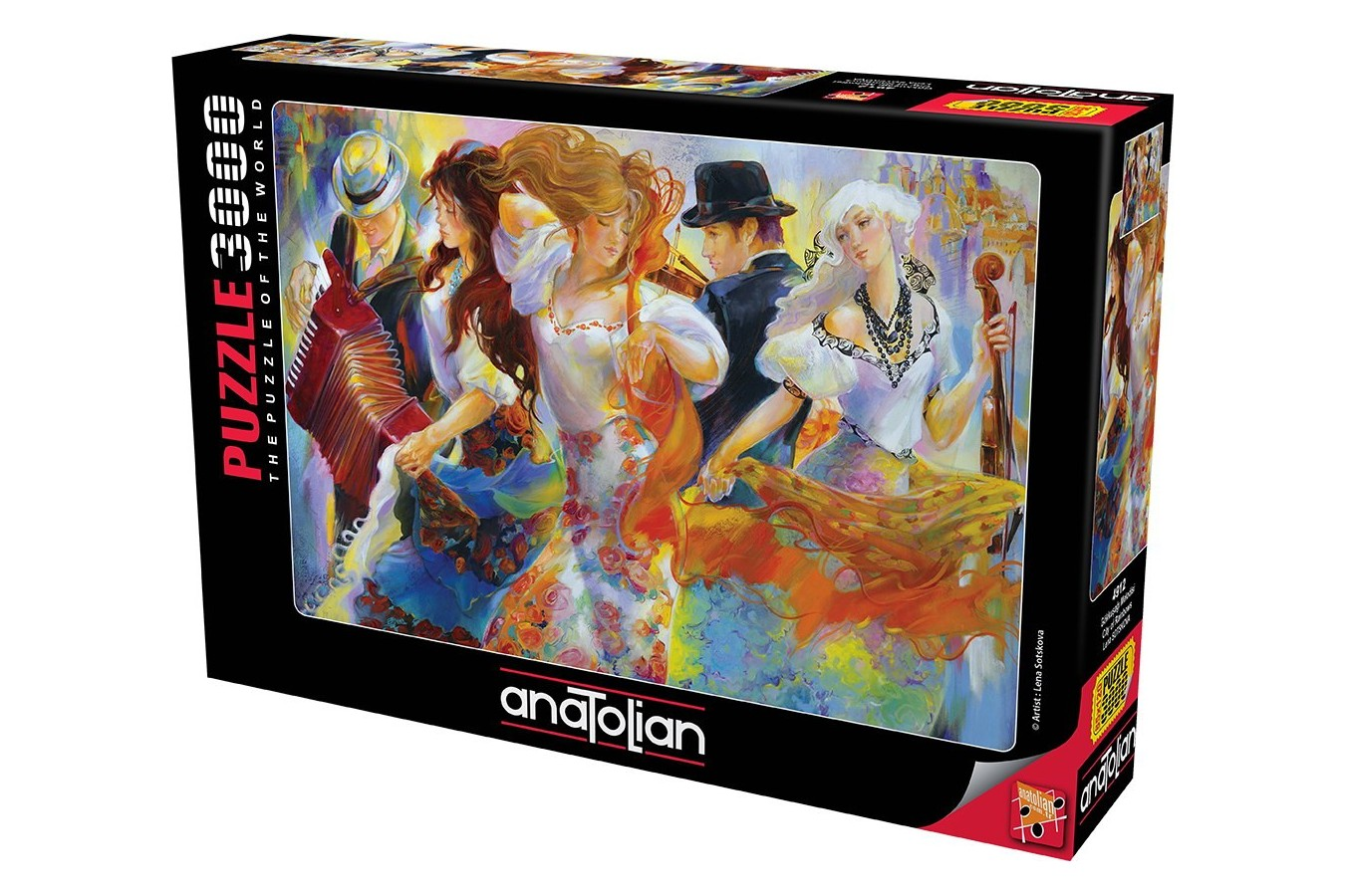 Puzzle Anatolian - City Of Rainbows, 3000 piese (4912)