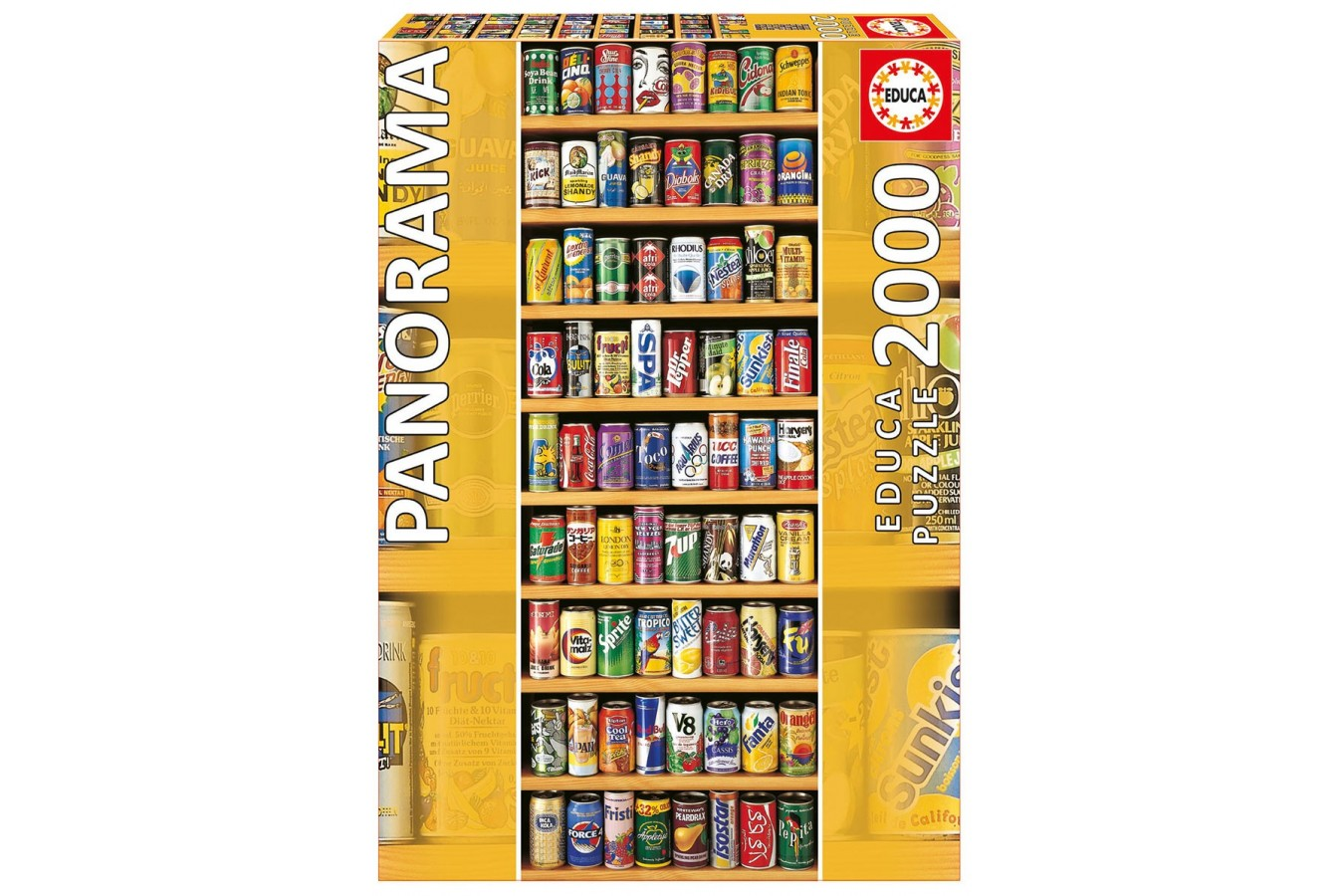Puzzle Educa - Cans, 2000 piese, include lipici puzzle (11053)