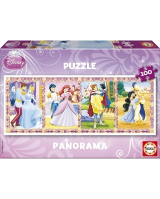Puzzle Educa - Panoramic - Disney Princesses, 100 piese (13500)