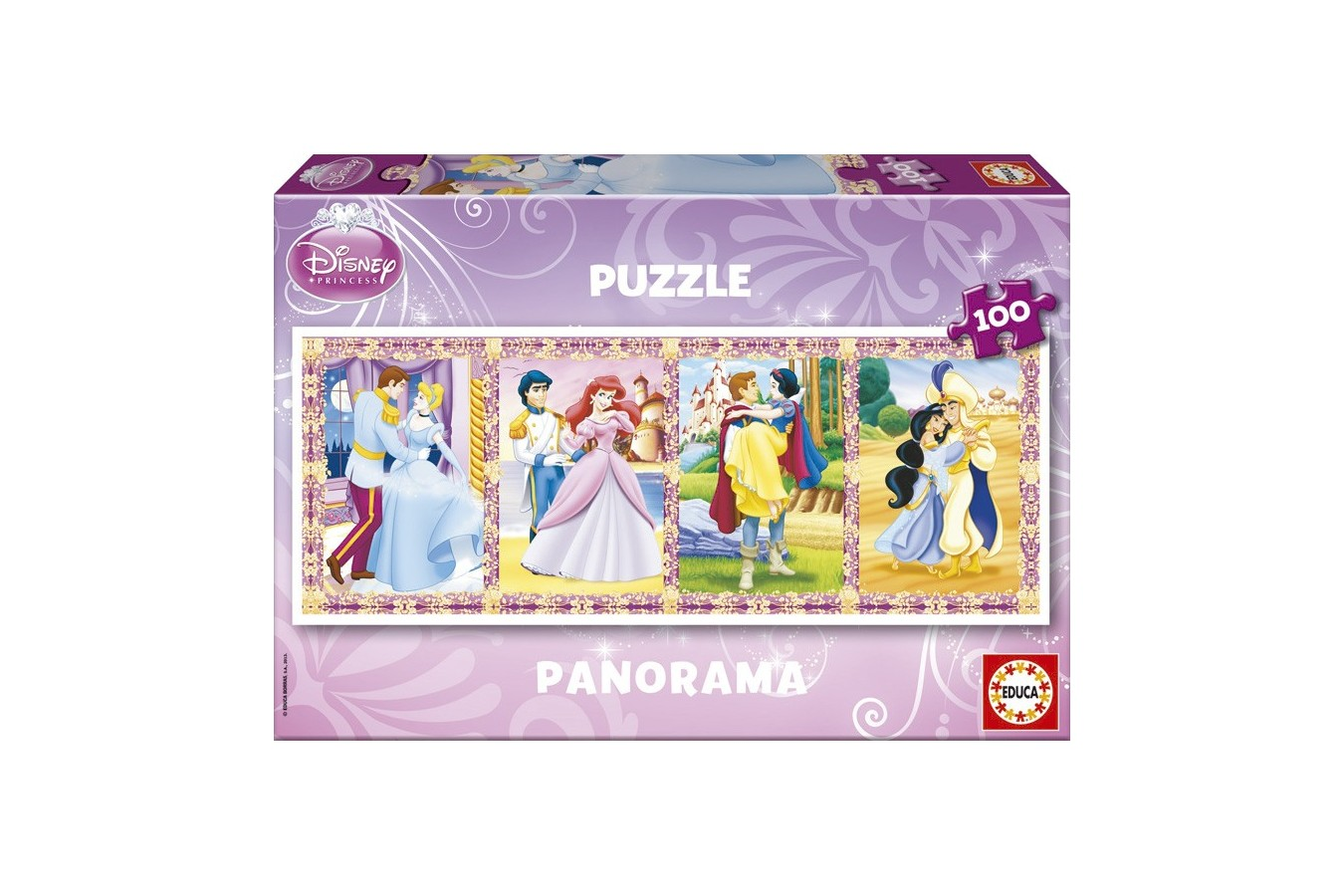 Puzzle Educa - Panoramic - Disney Princesses, 100 piese (13500)