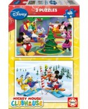 Puzzle Educa - Mickey Mouse: Winter Time, 2x48 piese (14207)