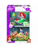 Puzzle Educa - Disney Princesses: Snow White and The Little Mermaid, 2x48 piese (14208)