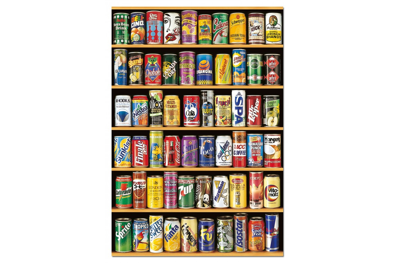 Puzzle Educa - Cans of Beer, 1500 piese, include lipici puzzle (14446)