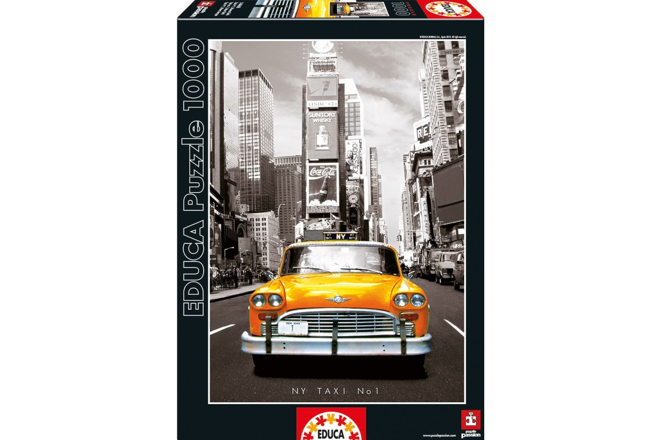 Puzzle Educa - Taxi nr. 1 New York, 1000 piese, include lipici puzzle (14468)