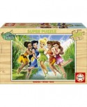 Puzzle din lemn Educa - Disney: Fairies in the Marsh, 100 piese (14659)