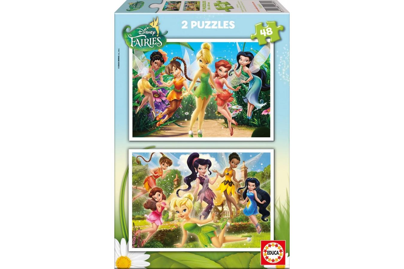 Puzzle Educa - Disney Fairies, 2x48 piese (14660)