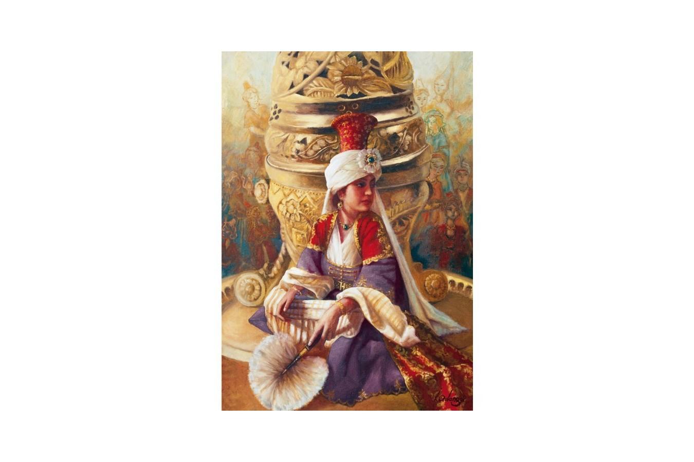 Puzzle Educa - Kamil Aslanger: Sultan Mahi Nigar and Incensory, 1000 piese (14724)